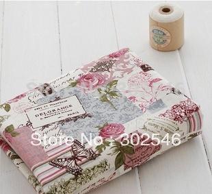 Special offer Retro Butterfly Rose Linen fabrics Tablecloths cloth cushion pillow linen fabric 145*100cm A1-1-M1(Hong Kong)