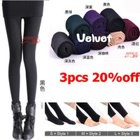 Wholesale Drop shipping free shipping velvet warm autumn winter tights for women tights pantyhose 3pcs 20%off dicount TW003