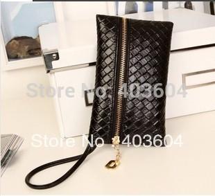 Wholesale Women Wallet bag New Hot Popular Retro Handbag Fashion Woven Belt Handle Cell Phone Bag/Pouch/Case(China (Mainland))