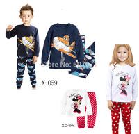Retail Children's Baby pajamas set  girl's  pjs carton pajamas suit long sleeve children's sleepwear sets 2pcs/set