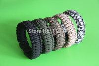 SALE! 12 pcs/lot, Paracord Survival Bracelet S0012 with Plastic Buckle, Free shipping