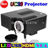 2014 New Mini HD home projector LED mini projector mini mobile computer's USB f drive HDMI input resolution,video projector