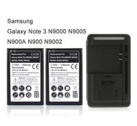 Free Shipping 2x 3500mah High Capacity Battery + USB Wall Charger for Samsung Galaxy Note 3 III N9000 N9005 N900A N900 N9002