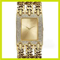 100% New Luxury Diamond Famous Brand 3 Steel Chain Quartz G Wrist Watch for Ladies Girls /w Logo Free Shipping Gold Silver