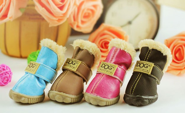 Cow muscle outsole autumn and winter snow boots casual dog shoes pet slip-resistant waterproof shoes teddy dog shoes(China (Mainland))