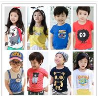 2014 NEW summer children clothing girls boys child cartoon multicolor short-sleeve T shirt / Children's T-Shirts /kids t shirt