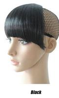 Black  fringe clip in hair extention New fashion Women's girl's false neat bang