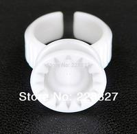 20 pcs Eyelash Extension Disposable Glue Rings Adhesive Fasle eyelash  Glue Pallet  Holders Makeup Kit Tool  Free Shipping RUA