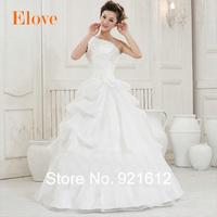 2015 New Casamento Mariage Cheap Vestido De Novia Gown Bride Sexy Fashionable Organza Vintage Plus Size Wedding Dress WDE19