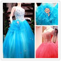 2014 Gossip.H All sizes Personal custom New arrival wedding dress Multi colour wedding dress Bling bling dress vestido de noiva