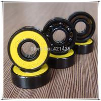 Freeshipping Best-Selling Black roller skates Hybrid ceramic 608bearings speed inline skate bearings Longboard ABEC9 Si3N4 Balls