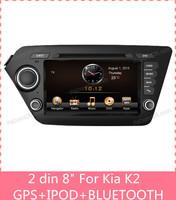 8 inch touch screen 2 din car dvd player gps Navigation for Kia K2 GPS RADIO RDS DVD MP3 BLUETOOTH A2DP tracking glonass box