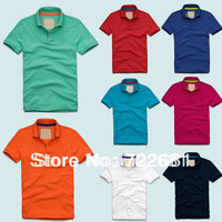 Promotion! 2013 New Mens Shirt +Men's Short Sleeve Shirt slim fit ,Polo shirt  100%cotton SUPER GOOD QUALITY