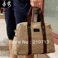 Men Black Briefcase Canvas Handbags Casual Shoulder Messenger Bags Free Shipping