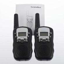 2Pcs/Set 0.5W UHF Auto Multi Channels 2-Way Radios Mini Walkie Talkie Travel T-388  New Free Shipping