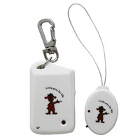 Security Electronic Keychain Anti-lost Personal Reminder Alarm Child Pet Mobile Luggage Finder -White