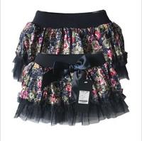 aoth67 flower print children skirt 1-6 age girls clothes kids skirts 5pcs/ lot free shipping