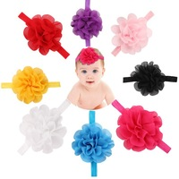 Infant Hair Band Baby Hairbands Girl's Headband DIY Pure color Flower Baby Photo Prop Happy Princess Hair Accessories