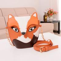 New Fashion women leather fox bag cartoon owl bag women messenger bag small bags free-shipping