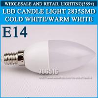 10PCS/lot LED candle light 2835SMD bulb lamp High brightness bulbs 3W 4W 5W E14 AC220V 230V 240V Cold white/warm white