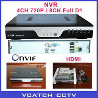Onvif 4ch Full 720P NVR D1 Real Time Recording Playback CCTV Security Network Video Recorder NVR VC-N8014