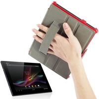 Free Shipping Xperia Tablet Z Protect Case SGP311 SGP 315 Universal for Sony Tablet Z Leather Cases with Bracket