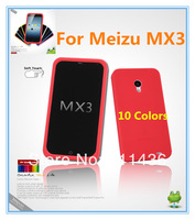 Meizu MX3 case,Free shipping Seepoo High Quality silicon case for Meizu MX3,Move Style-Colors Soft Case + Free screen protector