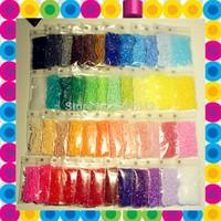 2.6mm Mini Hama Beads~Perler Beads~Fuse Beads Set of 48 Color 24000pcs+3 Template+5 Iron Paper+2 Tweezers,Diy Kids Toy Craft