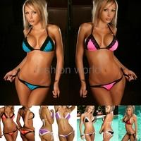 free shipping brand new fashion brasil women's 6 colors sexy bikini swimwear laides Lace Bottom Swimsuit girl bathing suit