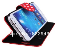 For Samsung i9190 /i9195/ I9198  Galaxy S4 mini mini leather  case 100pcs/lot 7 color choose Free ship DHL EMS