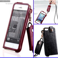 5S Lanyard Girls Case Kashidun Brand for Iphone 5S 5 4S 4 With Gift  Anti-Scratch Screen Protector
