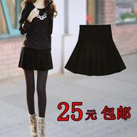 Autumn and winter  female high waist skirt  winter woolen short bust pleated skirt free shipping