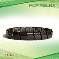 Free Shipping by EMS! 6sets Black Tourmaline bracelet health stone PR-B20 from POP RELAX