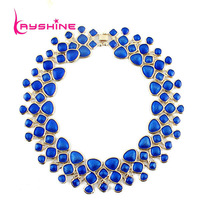 Statement Necklace Fashion Designer Jewelry Colorful  Enamel Bubble Bib Choker Necklace Collares Mujer