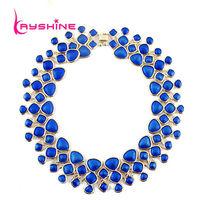 Statement Necklace Fashion Designer Jewelry Colorful  Enamel Bubble Bib  Shorts Women Jewelry Wholesale