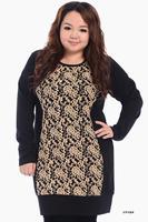 plus Size Casual Dress fat Women elegent lace Dress Thick Autumn Winter Dress big size Clothing Designer Clothes Long Sleeve