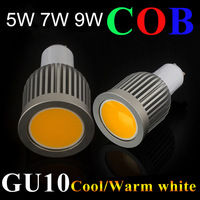 10pcs  LED COB SpotLight Bulb gu10  High Bright 5w/7w/9w Cool White/Warm White dimmable  AC85-265V lamp Lighting Epistar