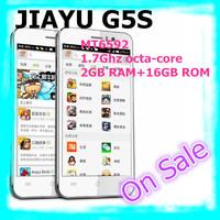 "Black in Stock Ultra Slim JIAYU G5S MTK6597 Octa Core 3G Smart Phone 13MP Camera 4.5"" OGS Gorilla Glass Screen 2G RAM 16G ROM"