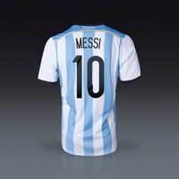 Argentina world cup 2014 home #10 MESSI top thailand quality jersey football jersey sportswear Free Shipping
