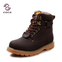 2013 new Fashion cow Leather snow boots for men OutDoor Shoes,Lace-Up Warm Plush Fur Martin Boots Slip free shipping