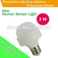 High Quality Long Life 3W Human Sensor Led Light 180-260V White Light Bulb