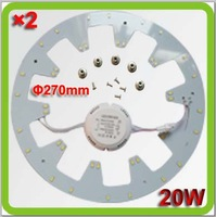 2015 Novelty 110V 120V 220V 230V 240V Dia270mm 2000lm 20W led down lights round panel PCB led board replace 45W old 2D tube