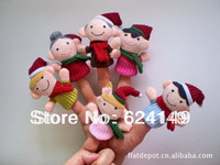 Biggest Promotion Free Shipping 6PCS/Lot Finger Puppets Even Toy Gift Plush Doll Child Story Telling Props Sex Toys Baby Toy