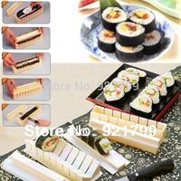 10  piece Plastic kit Sushi Tool Set DIY Japanese Porphyrilic Rice Cake Roll Mold Sushi Multifunctional Mould Suit sushi making