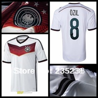 new top thailand quality 2014 world cup Germany home white soccer football jerseys, Germany soccer uniforms free shipping