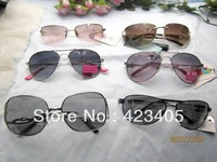Free shipping 2014 Hot sale Men women's fashion Super Star lovely new metal mix Sunglasses  family gift