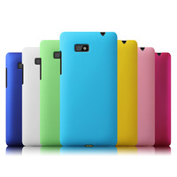 Free Shipping! High Quality Oil-coated Rubber Matte Hard Back Case for HTC Desire 600 606w Colorized Frosted Cover, HCC-064