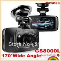 "Special offer!Novatek Mini Car DVR GS8000L recorder HD 1920X1080P 2.7"" LCD 170 Degree Wide Angle logger G-Sensor,free shipping!"