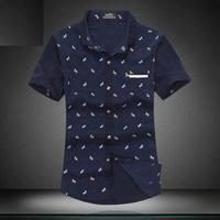 New Men Shirt Short Sleeve Plus Size Slim Fit Blusas Steel Buckles Design Camisetas Masculinas Male Apparel Mens Dress Shirts