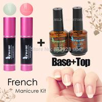 2014 New Hot Pro Cheap Nail Art  Fringe Guides Nail Art Tips Sticker UV Gel Nail Polish French Manicure Kit 4Pcs drop shipping